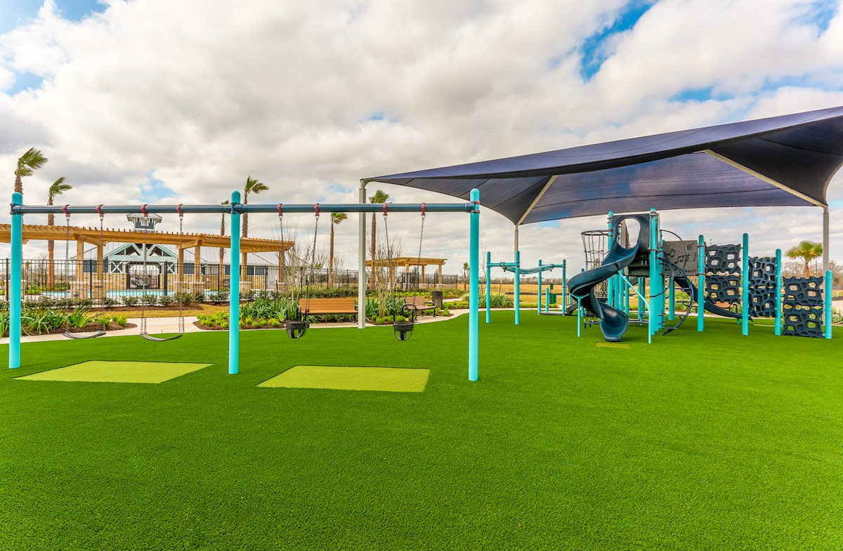 playground includes slide and swings