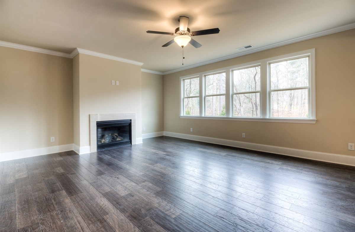 Stockton quick move-in Family room with fireplace