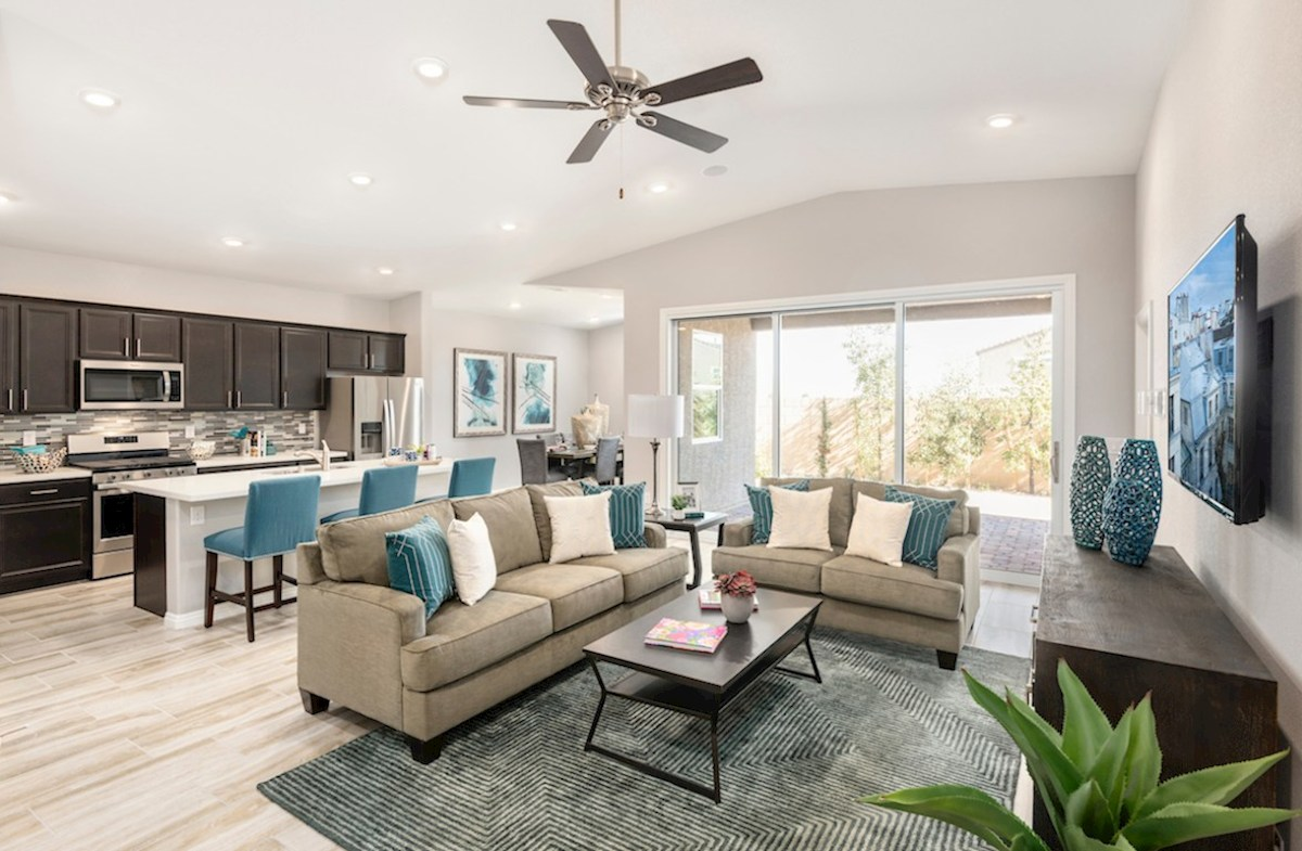 Colton Ranch Summit open concept family room in the Summit model