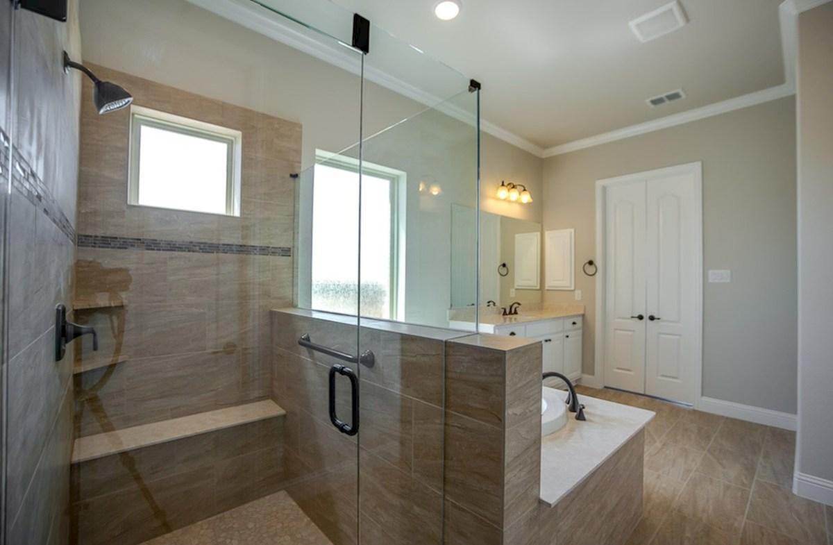 Miramonte Calais Calais master bathroom with separate tub and shower