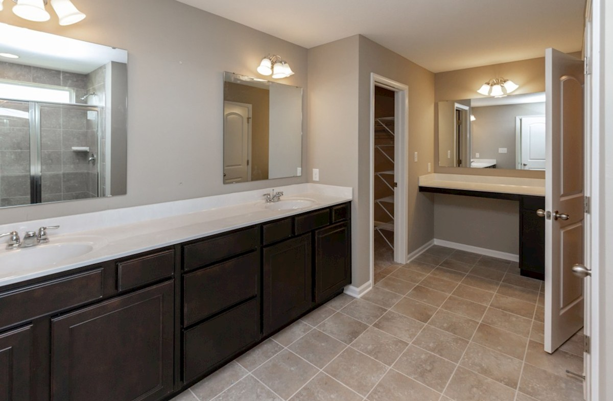 Porter quick move-in Master bath with dual vanities