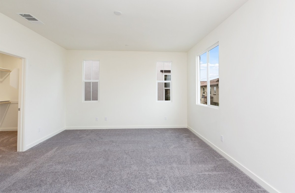 Mission Lane Pinyon Master bedroom located in the back of home for best exterior views and natural light