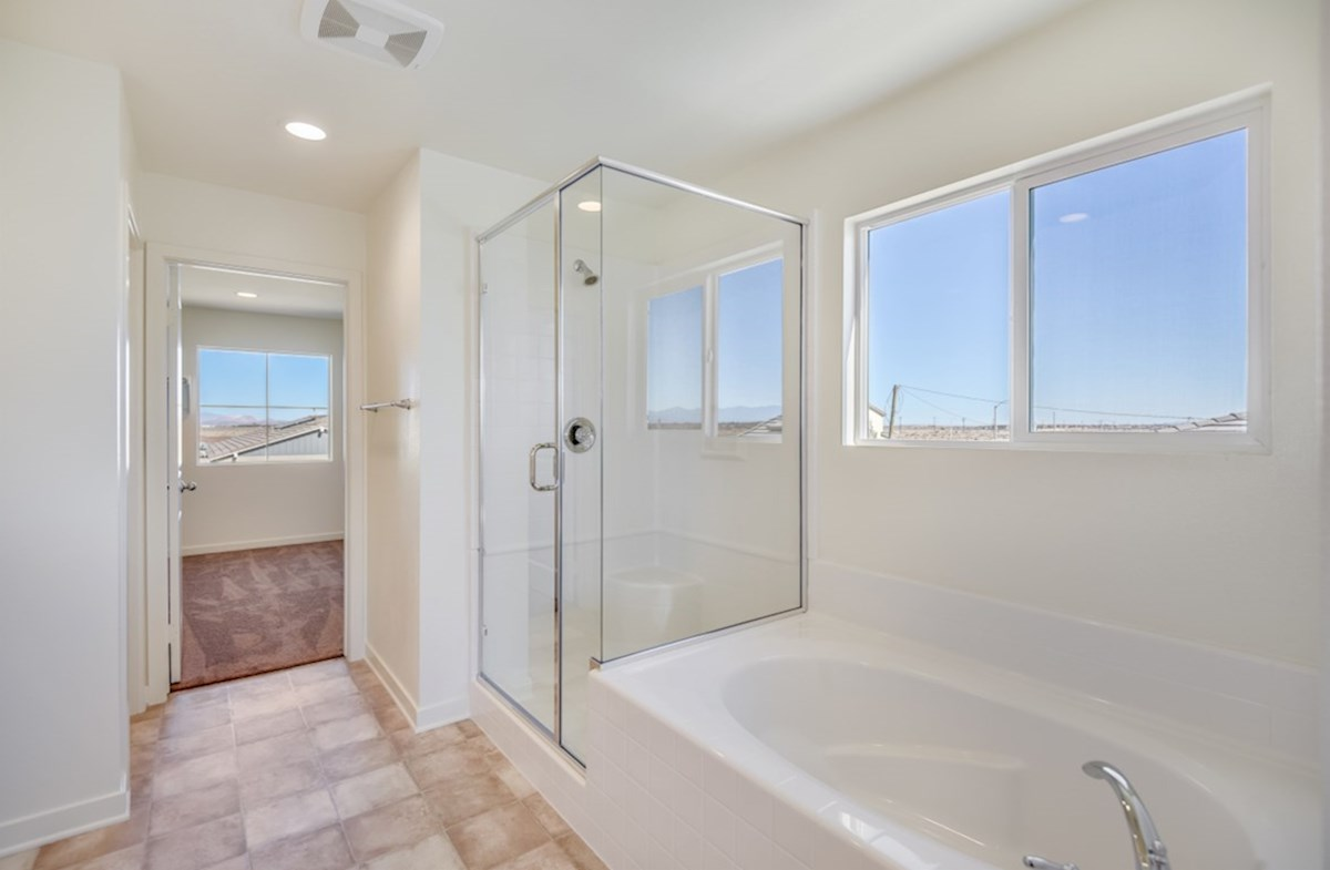 Starflower quick move-in Master bathroom with multipule windows to maximize natural light exposure
