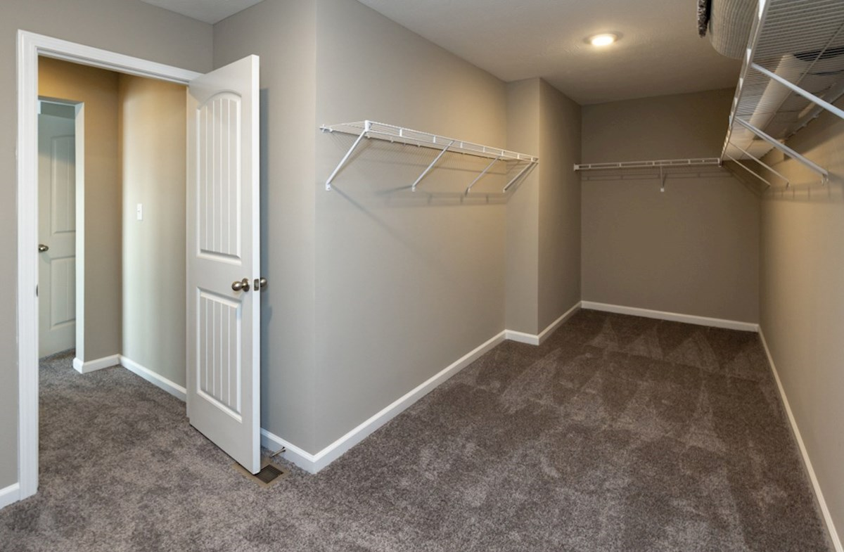 Shelby quick move-in large master closet with shelves