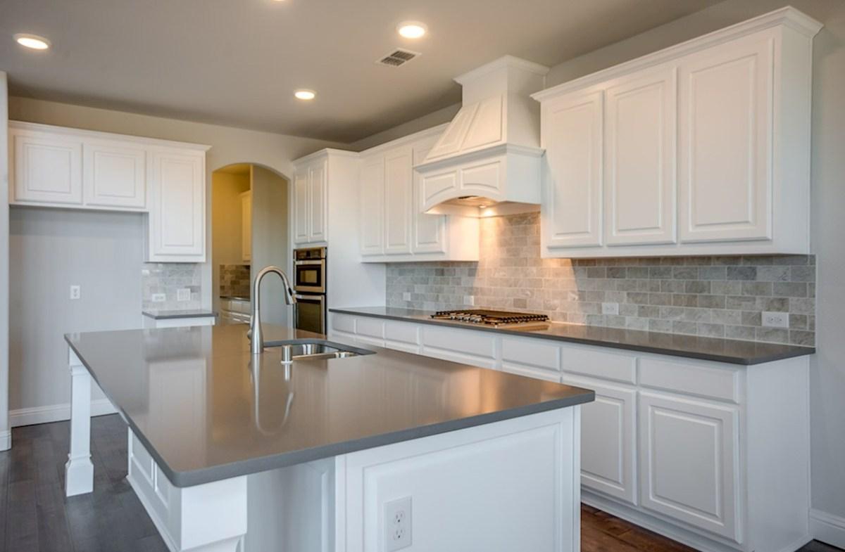 Madison quick move-in granite countertops in kitchen