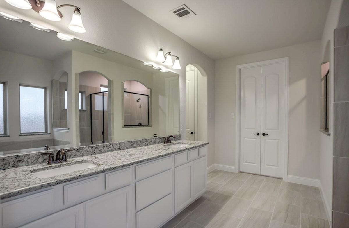 Trinity quick move-in master bathroom with granite countertops