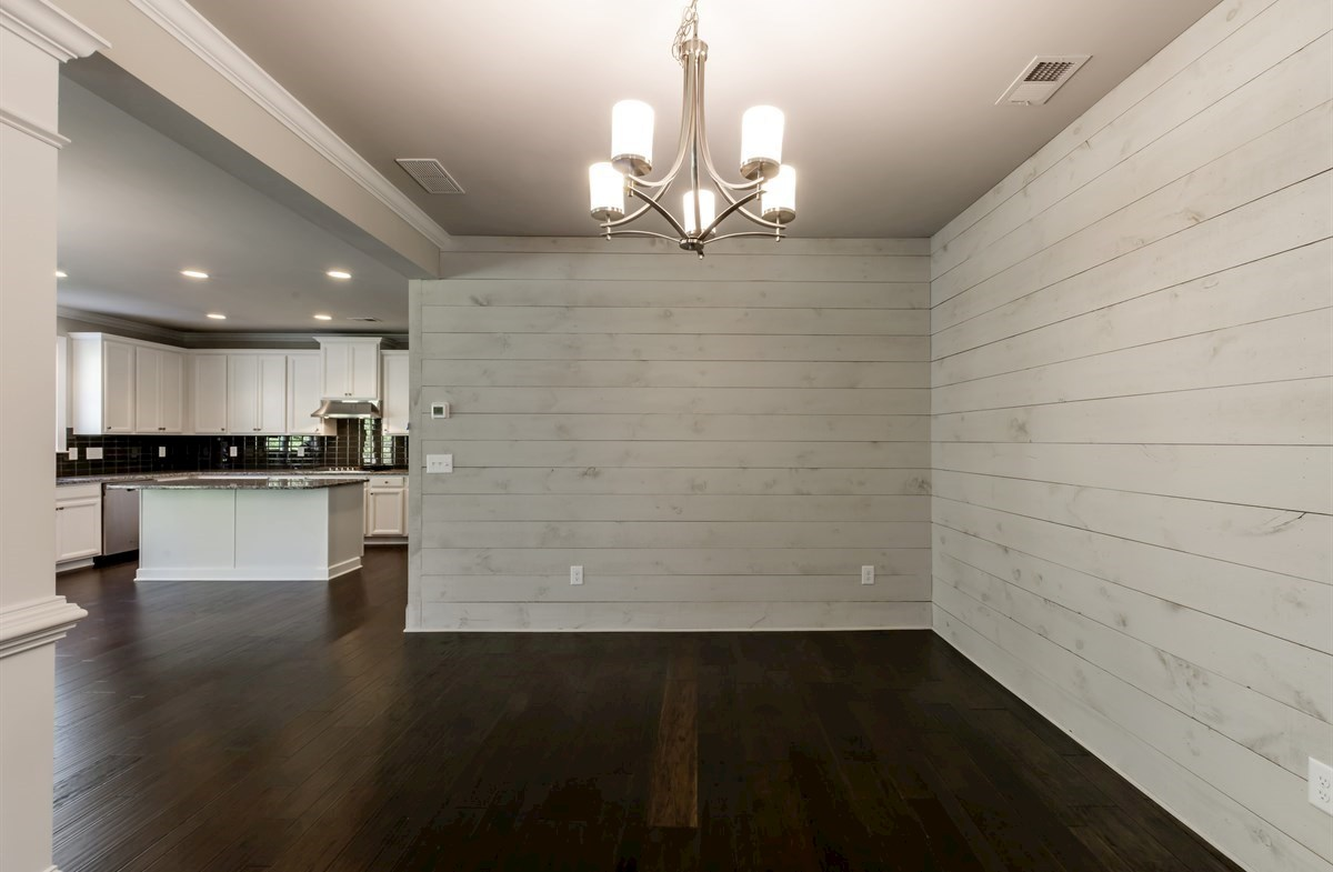 Brentwood quick move-in Dining Room with shiplap walls
