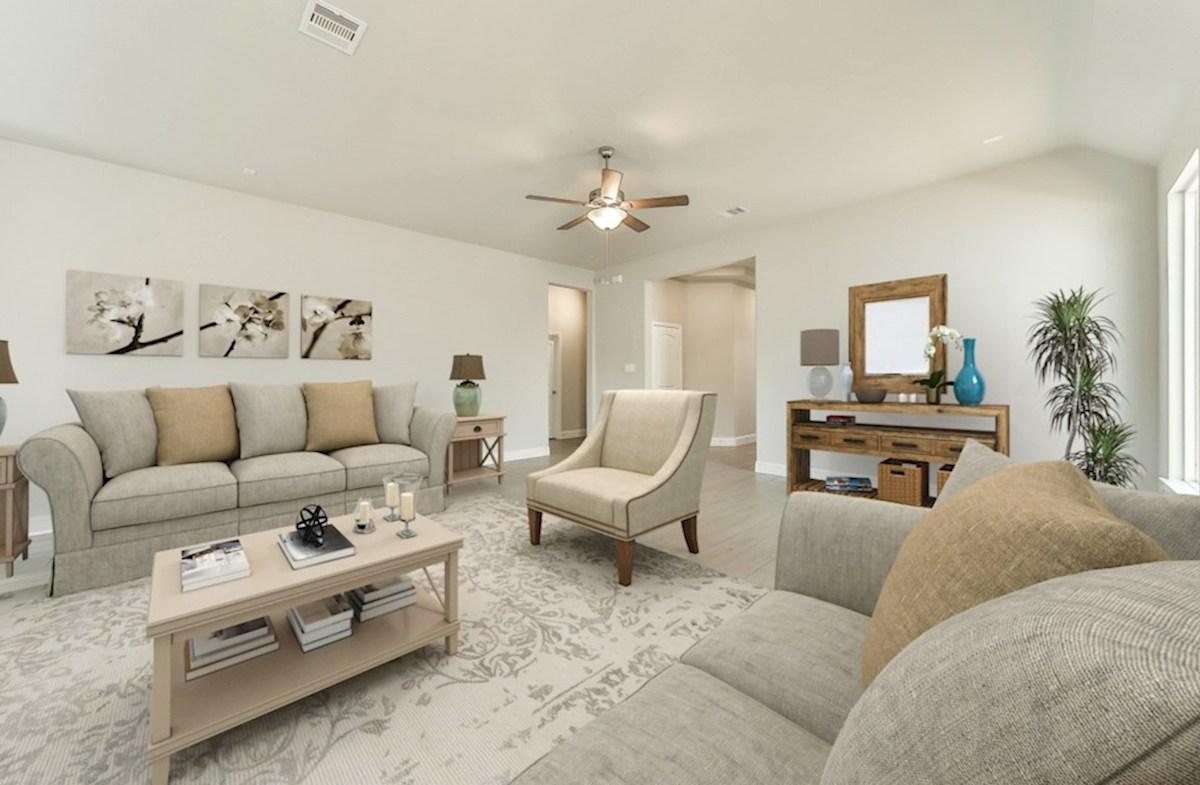 Bridgeland: Harmony Grove Belissimo great room with tile flooring