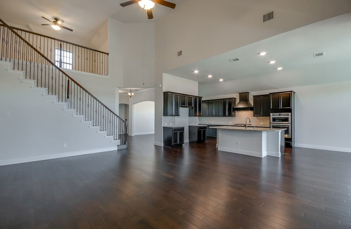 Kerrville quick move-in open great room and kitchen island