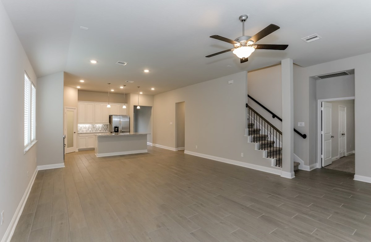Southwinds Berkshire large great room with ceiling fan