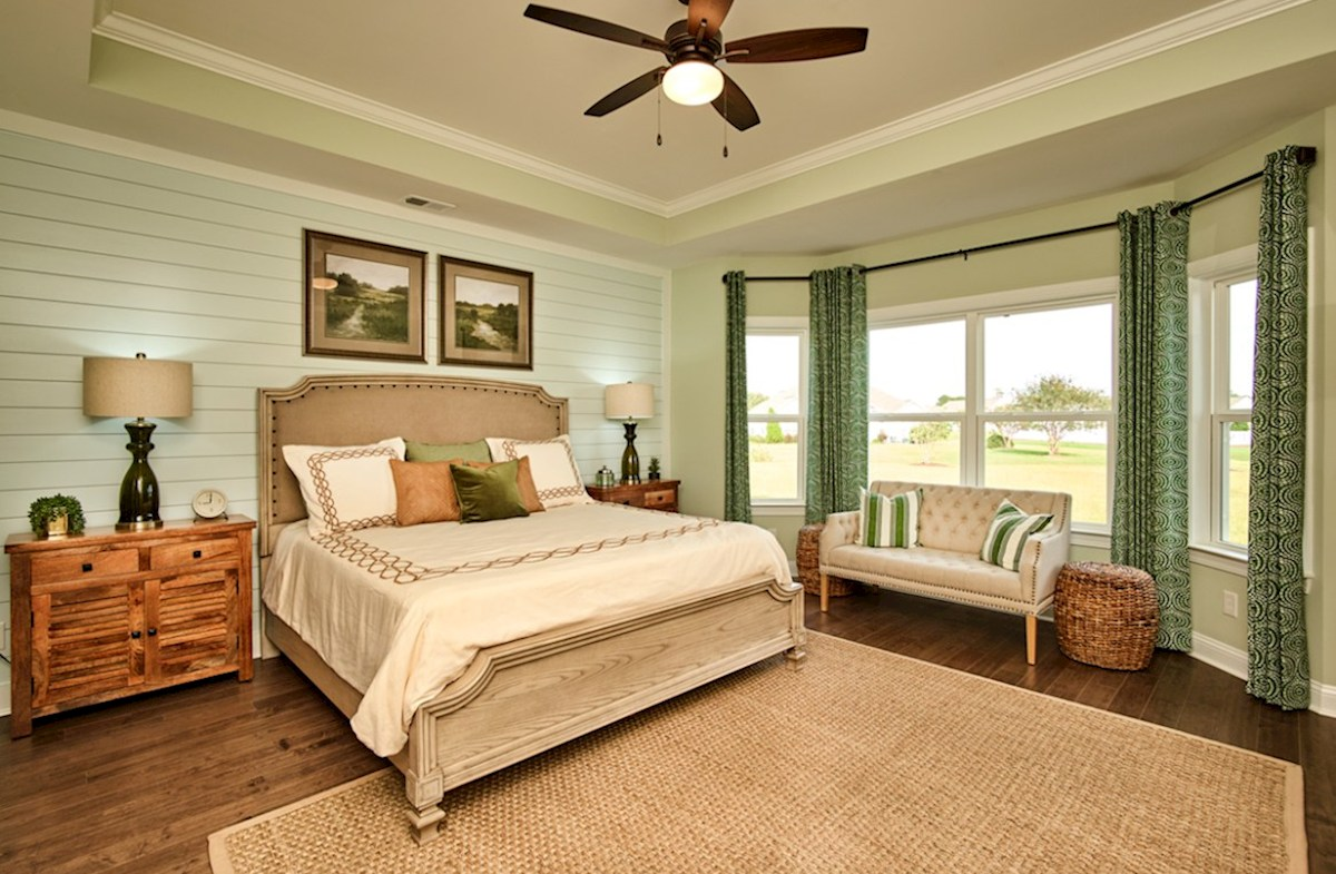 Belle Mer Reynolds master bedroom with bay windows
