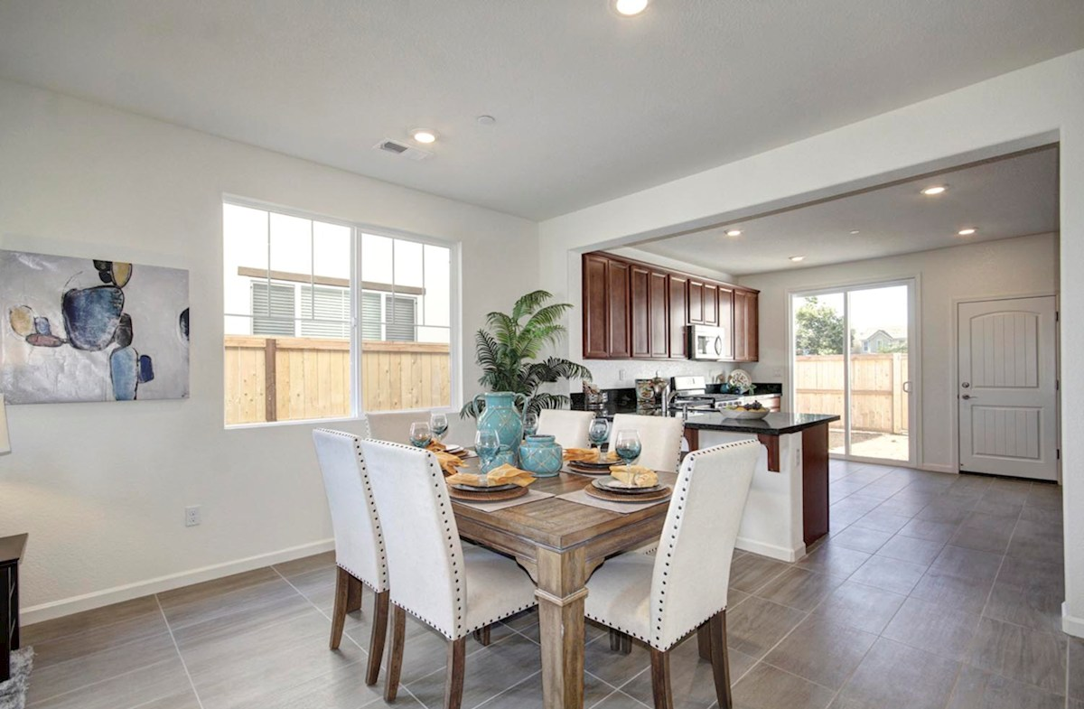 Natomas Field Residence 3 Rancho Cordova, CA new homes Bungalows dining room