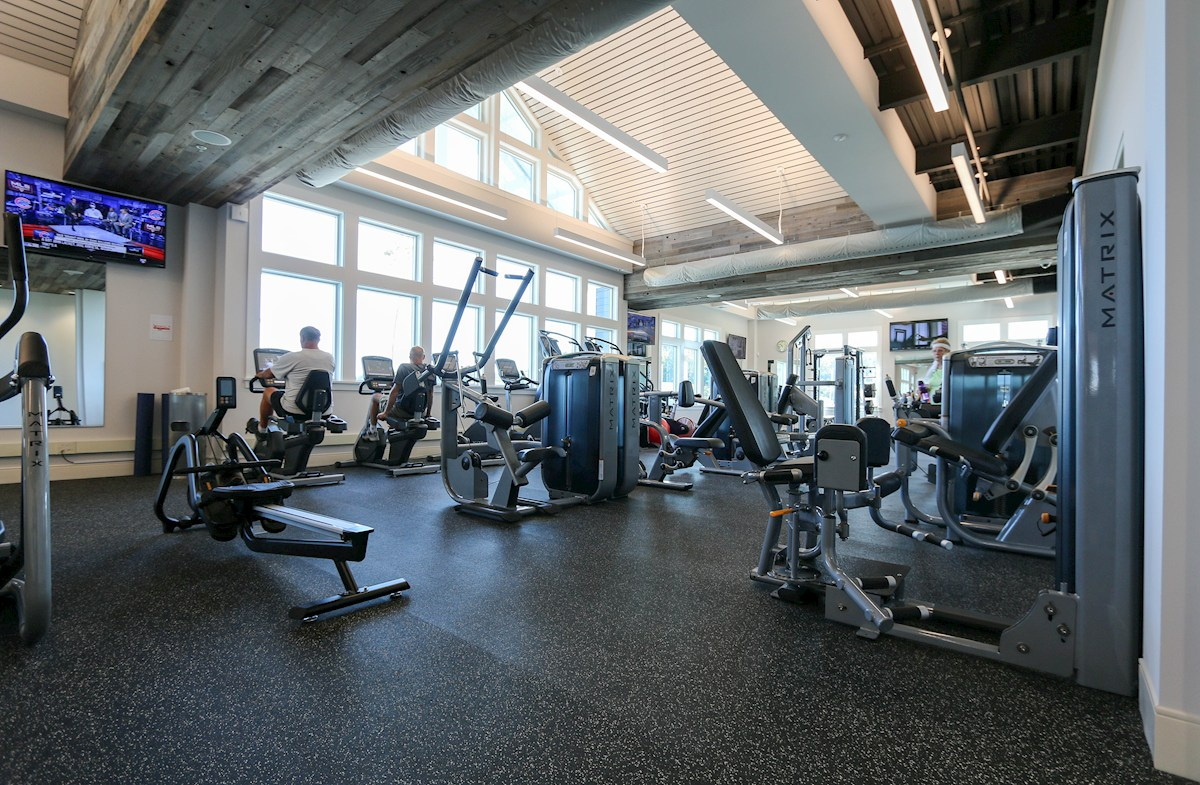 Exercise equipment in the Health & Aquatics Center