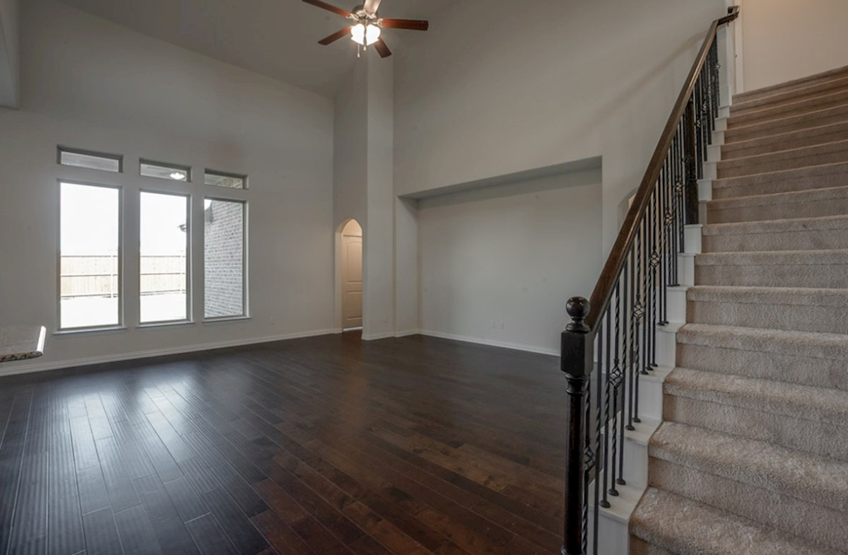 Kerrville quick move-in great room with two-story ceiling