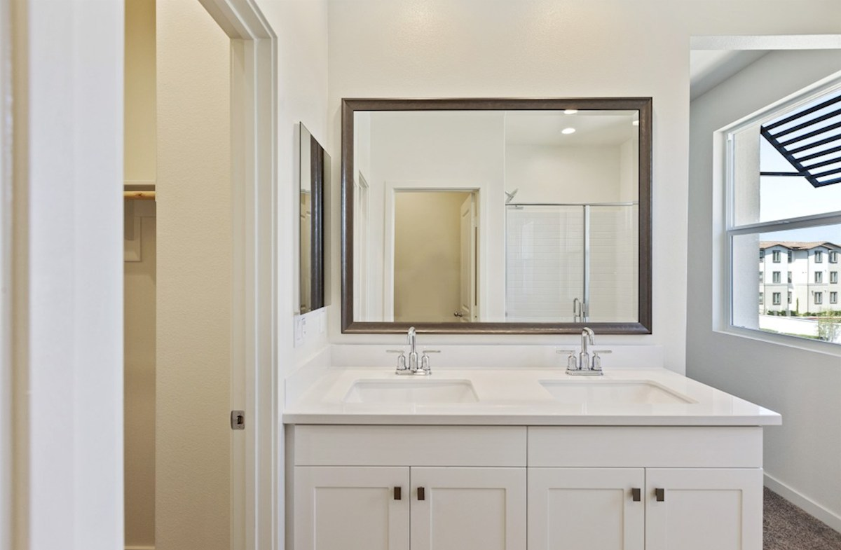 Foxtail quick move-in Located in the bathroom, the linen closet adds storage exactly where you need it.