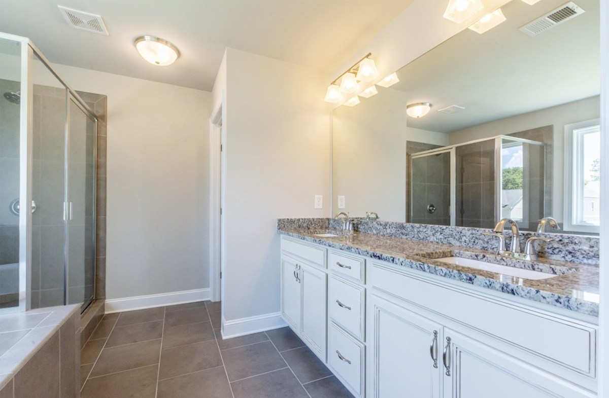 Langley quick move-in Master Bath with dual sinks