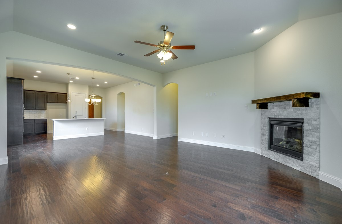Silverado quick move-in fireplace in open great room