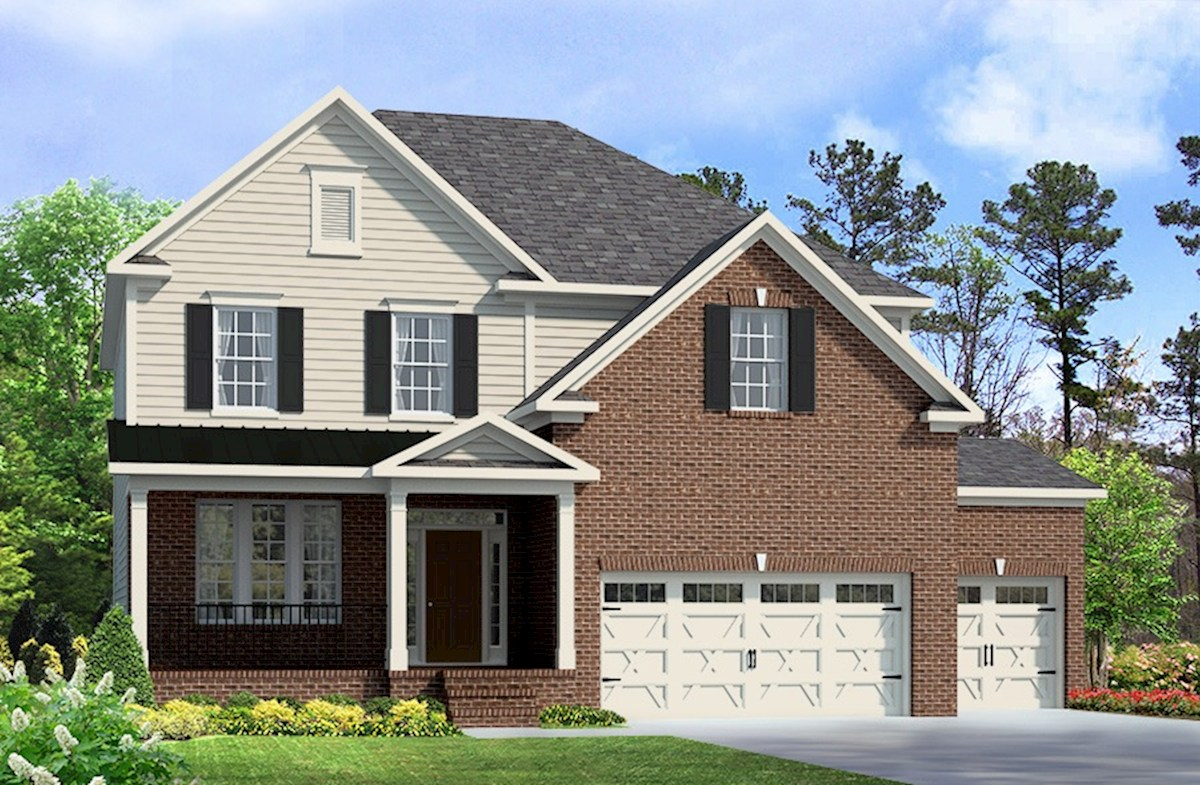 Abbey Home Plan in Sunset Glen, Fuquay Varina, NC | Beazer Homes ...