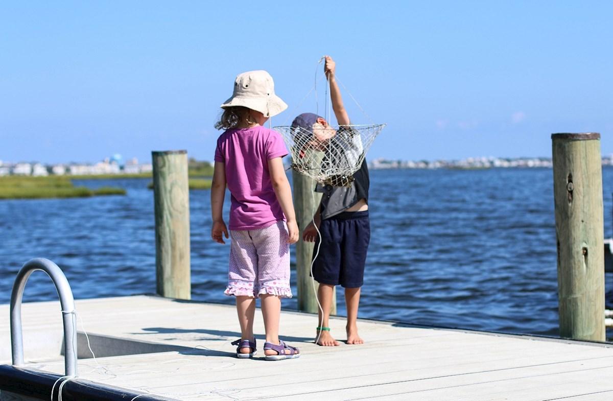 Peaceful community pier