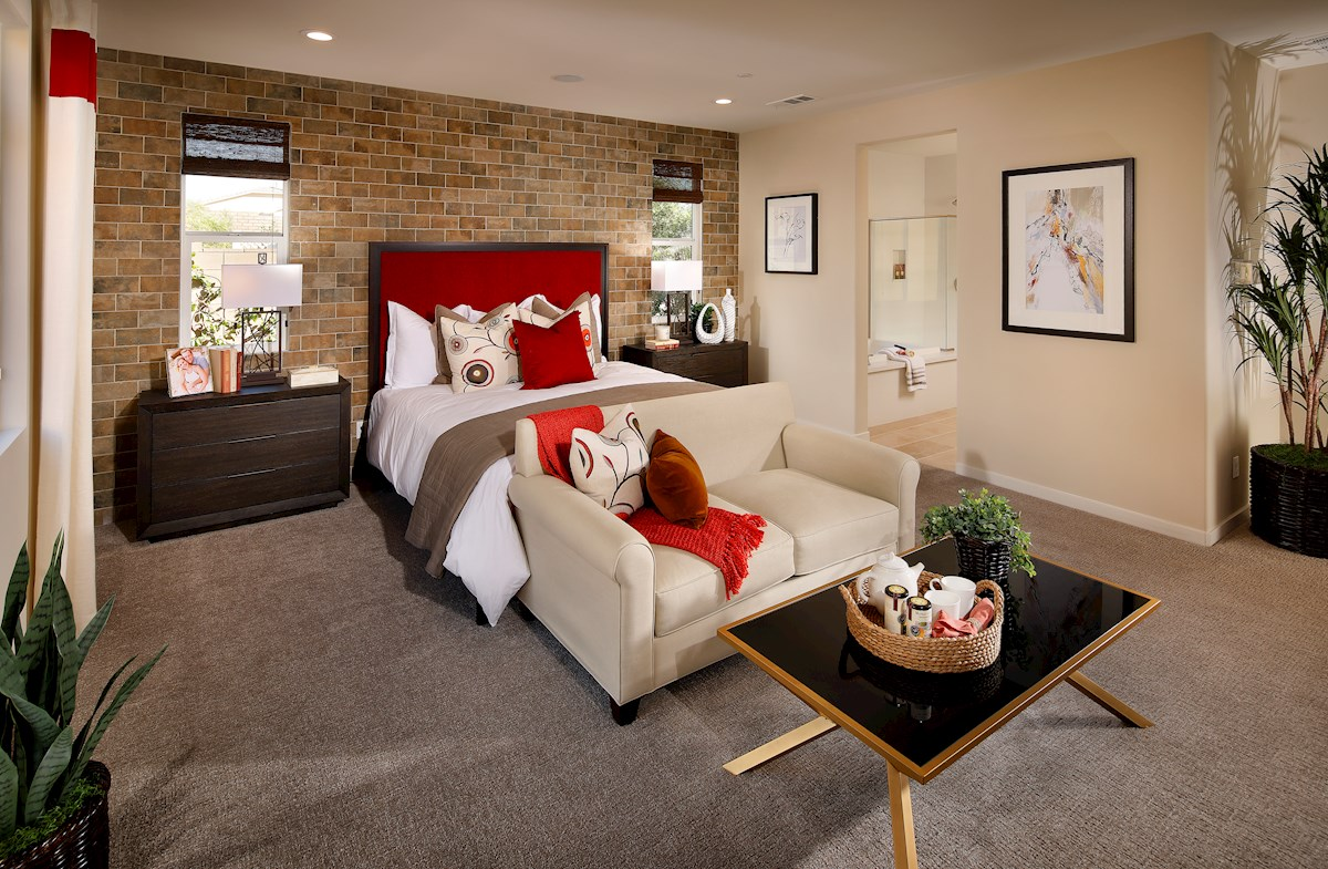 Relax in this spacious master bedroom