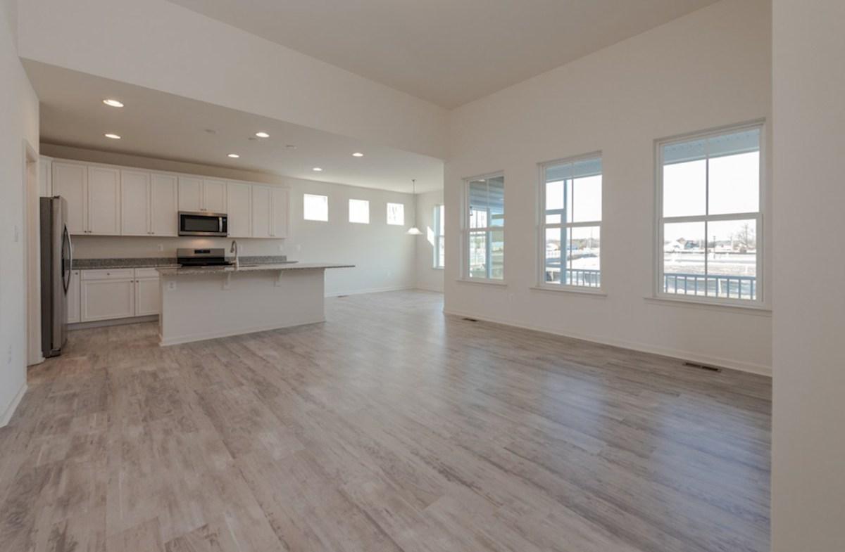 Darley quick move-in Darley great room featuring hardwood floors