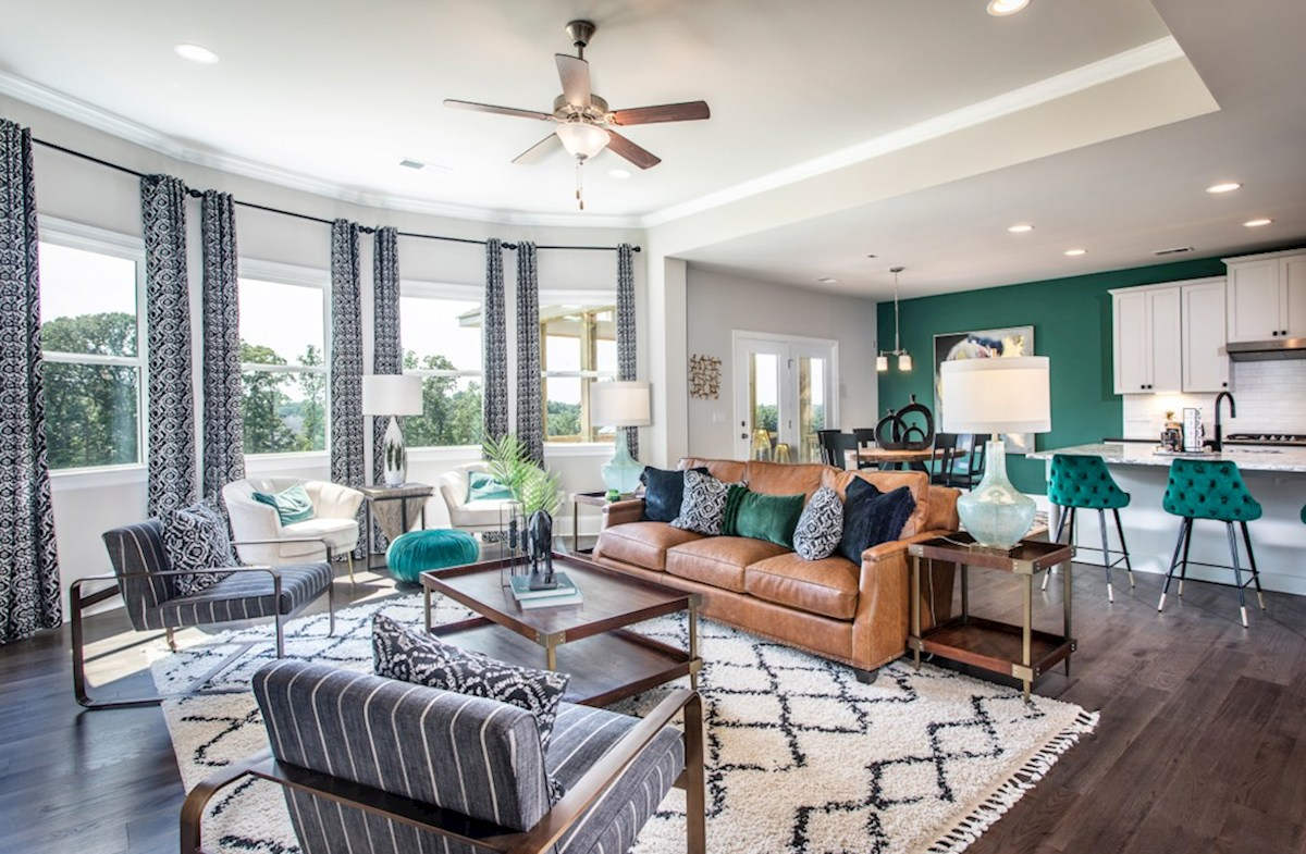 Macland Preserve Laurelwood Family Room with ceiling fan