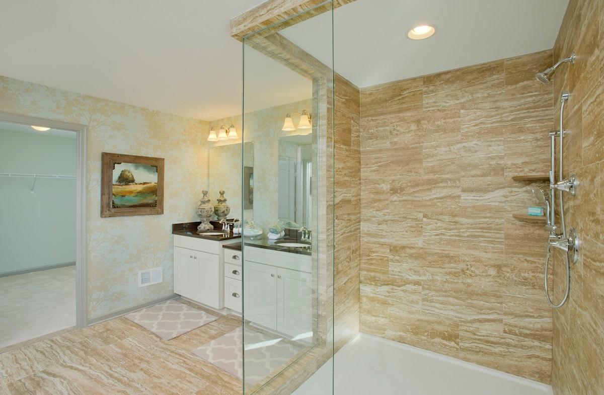 The Preserve at Windlass Run - Single Family Homes Pembrooke spa-inspired master bathroom