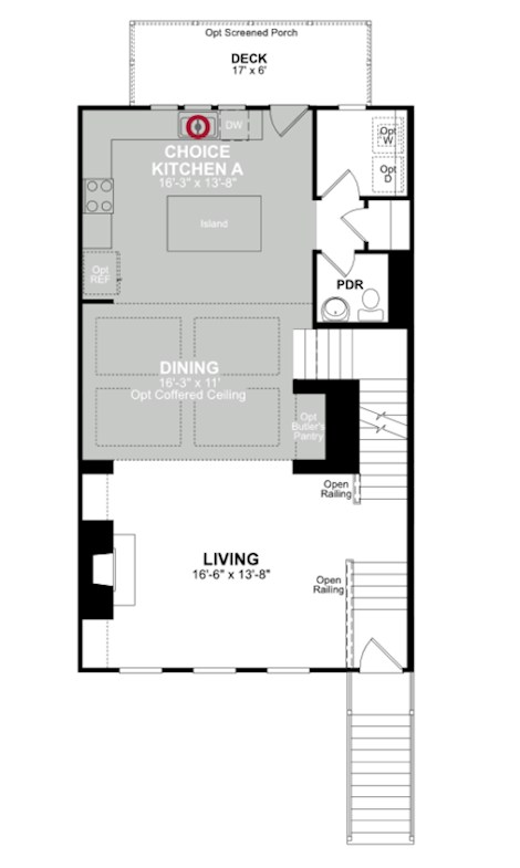 Main floor plan for Main Level