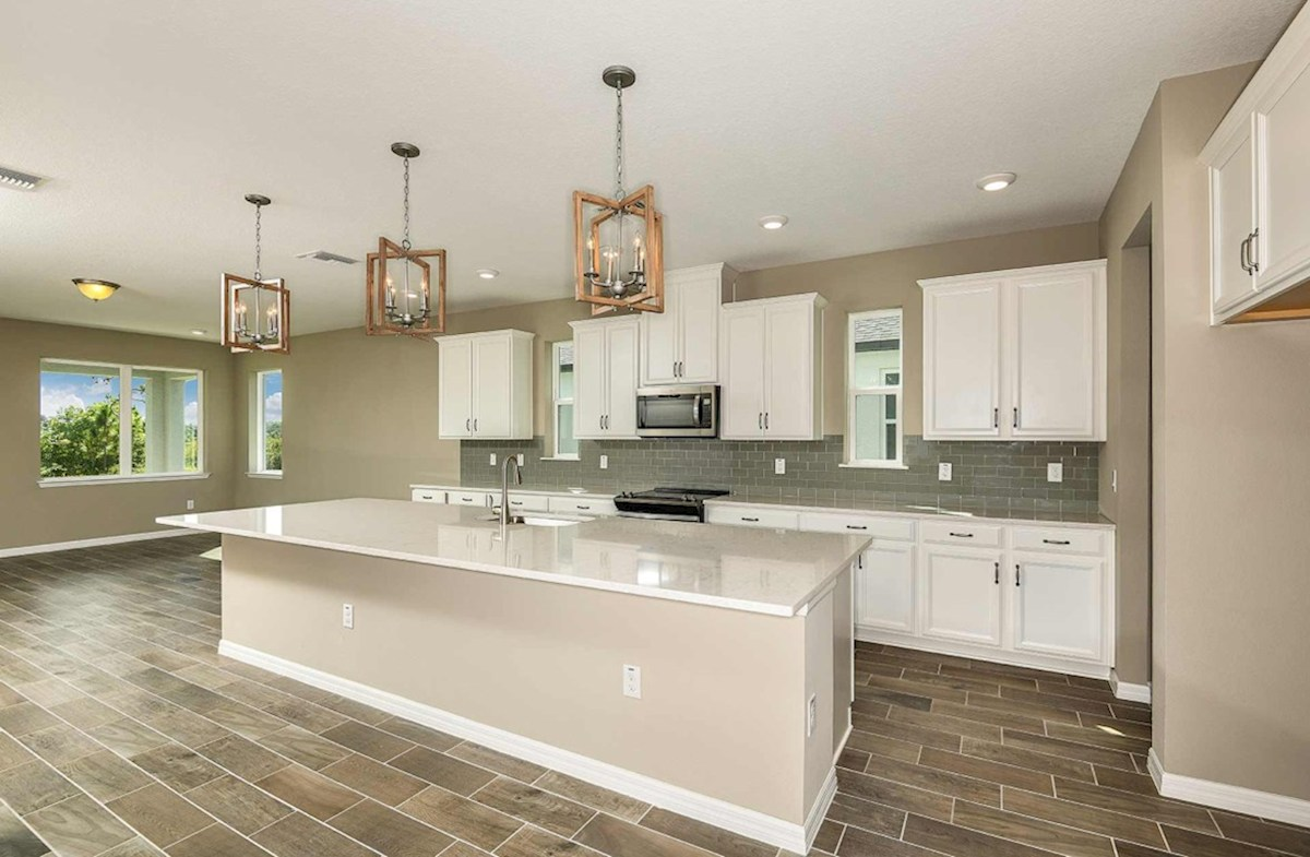 Shoreline quick move-in Open kitchen with a large center island