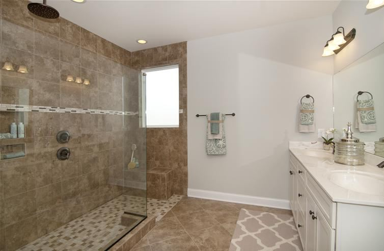 open master bathroom