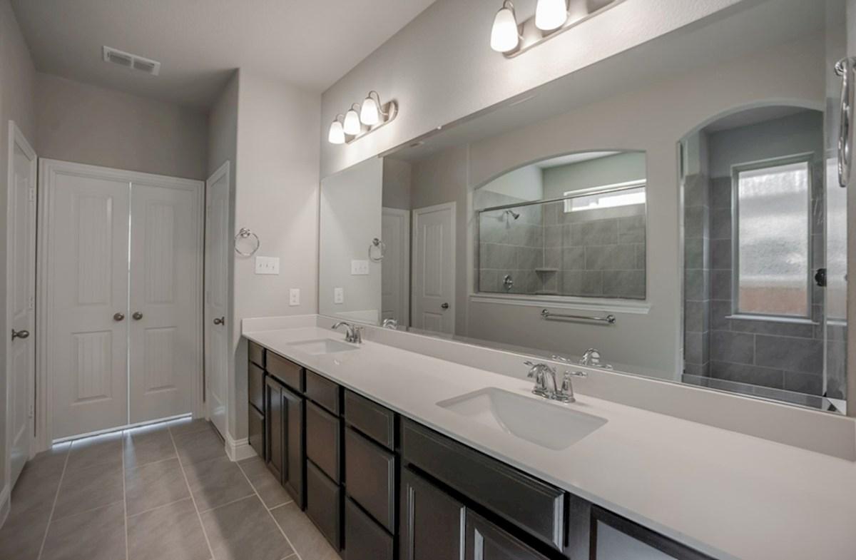 Summerfield quick move-in Summerfield master bathroom with double vanity