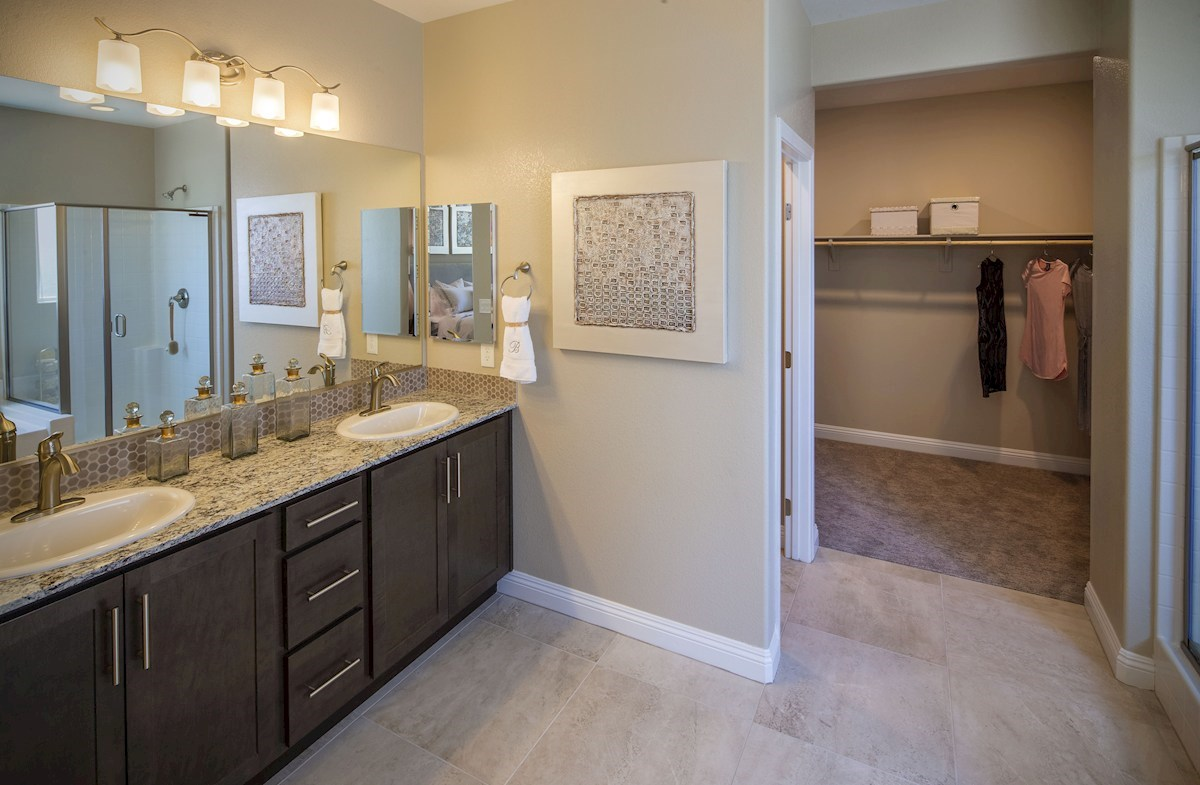 Dorrell Estates Summit spa-inspired master bathroom in the Summit plan