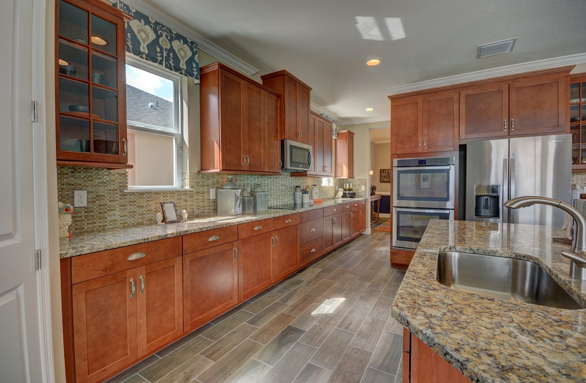 """Long Lake Ranch Anna Maria Kitchen with 42"""" cabinets and stainless steel"""