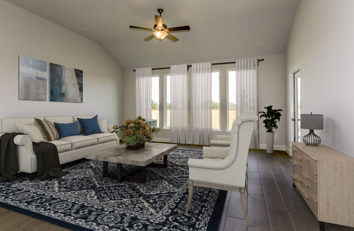 Bridgeland: Harmony Grove Spicewood light-filled great room