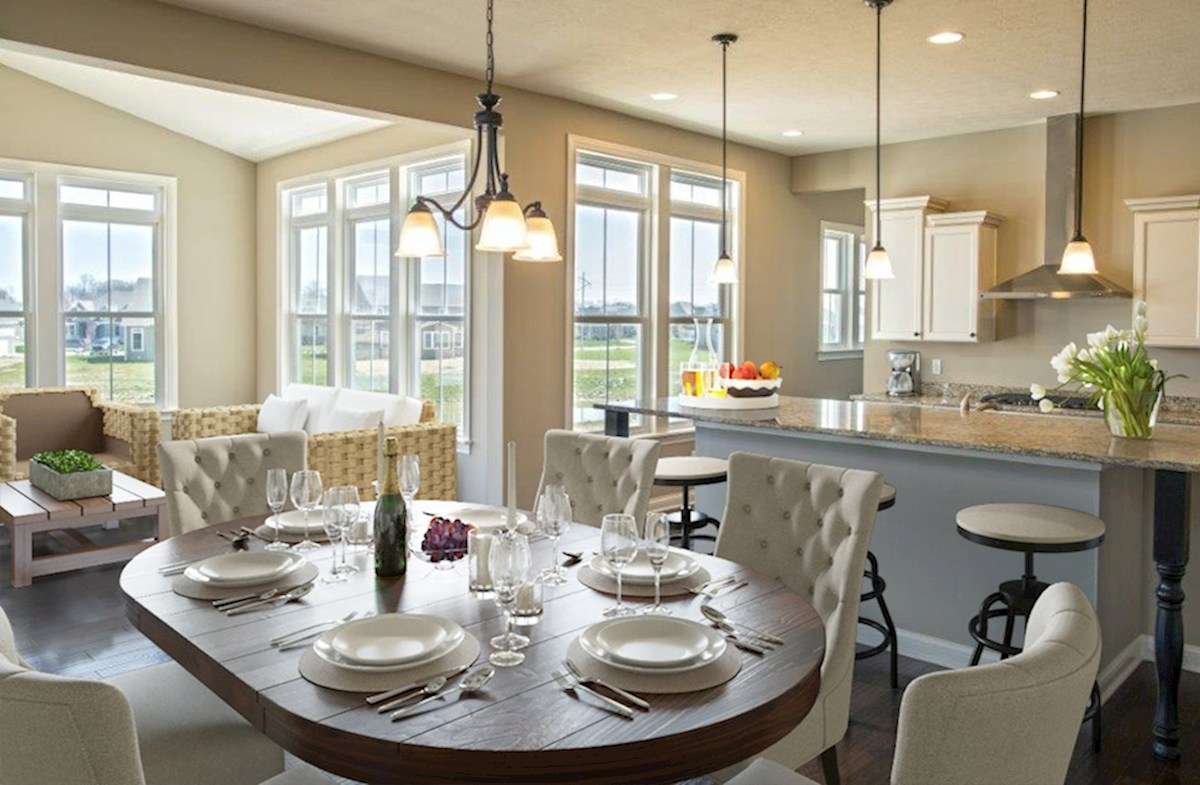 Hampshire Meridian Collection  Oakhill Classic kitchen with table island and sunroom