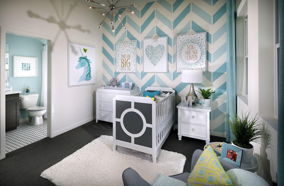 Mission Lane Orchid blue nursery room