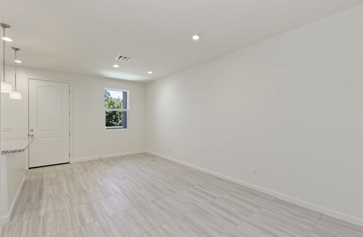 Foxtail quick move-in A spacious great room is the perfect space for family bonding.