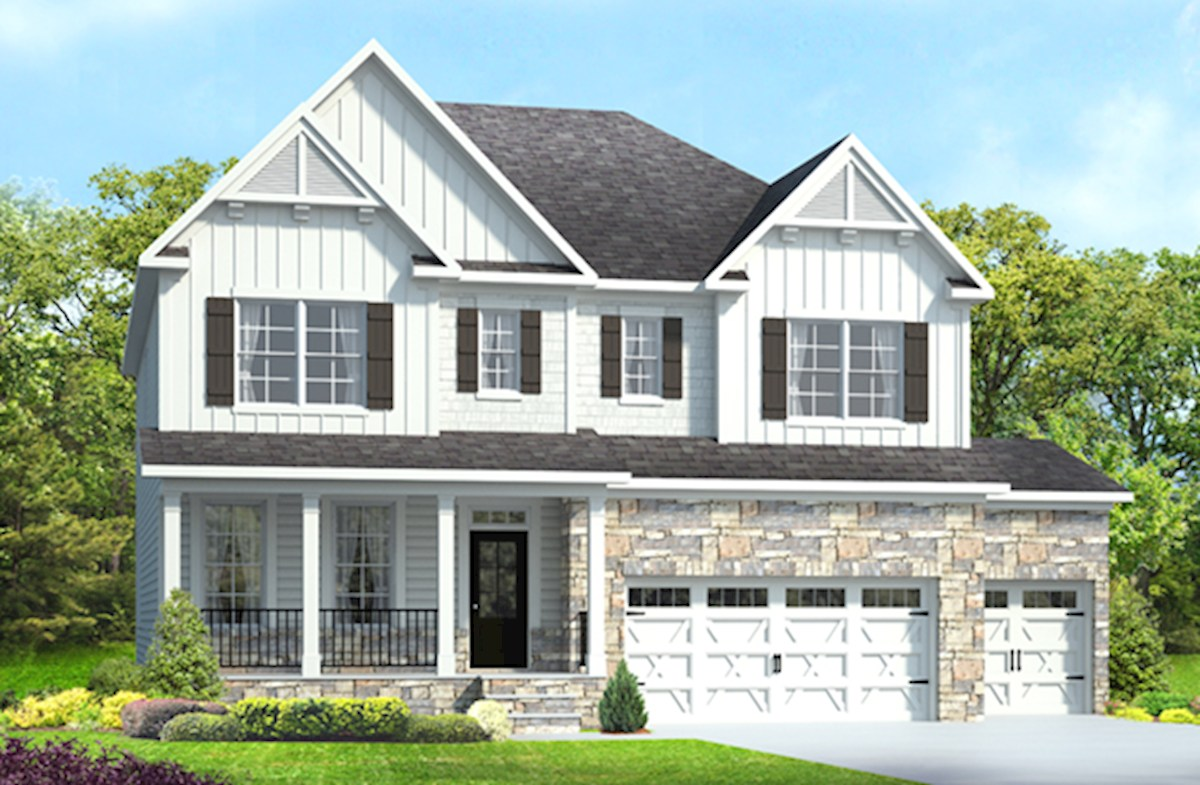 Somerset Home Plan in Avocet, Holly Springs, NC | Beazer Homes ...