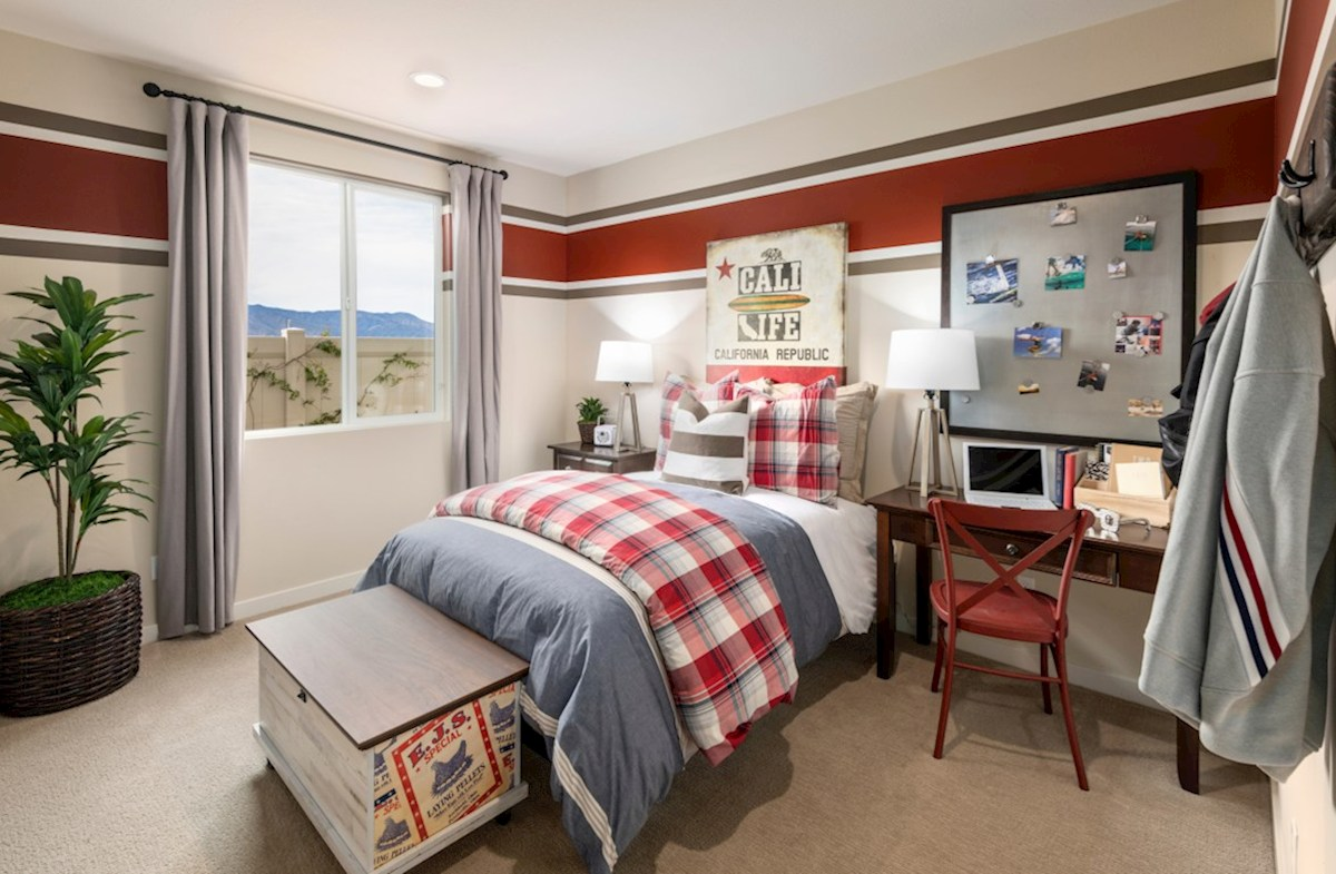 The Glen at Summerly Napa cozy bedroom for your child