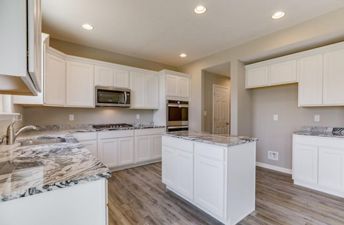 Juniper quick move-in kitchen with granite countertops