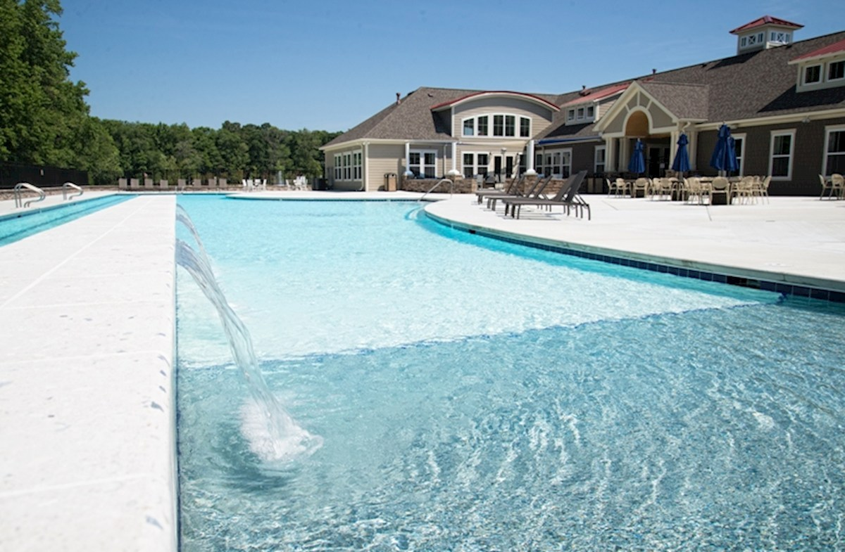 sparkling swimming pool