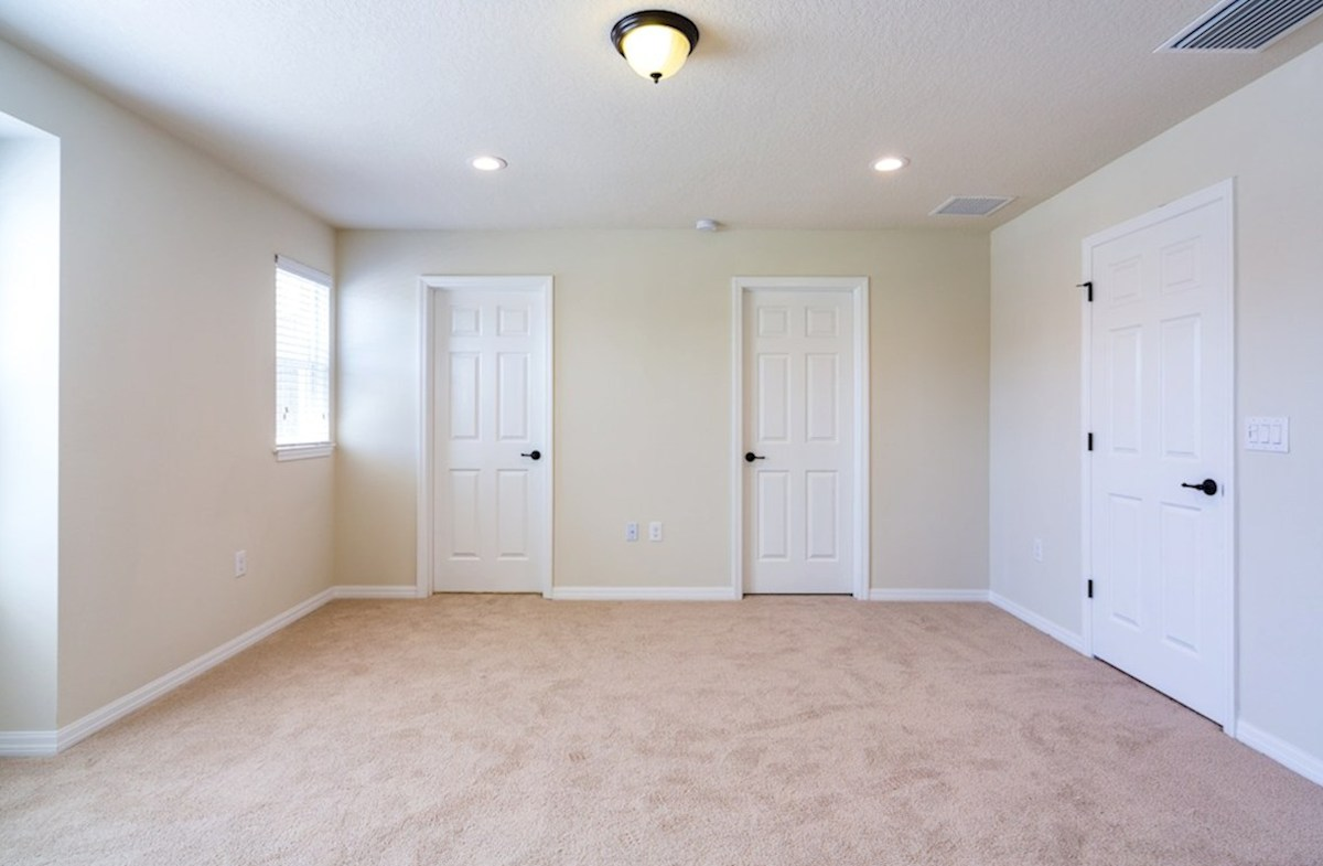 Champlain quick move-in Master bedroom with dual walk-in closets