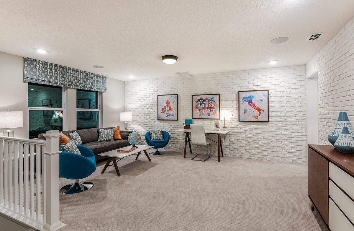 Reserve at Citrus Park Windjammer Open loft with brick wall accents