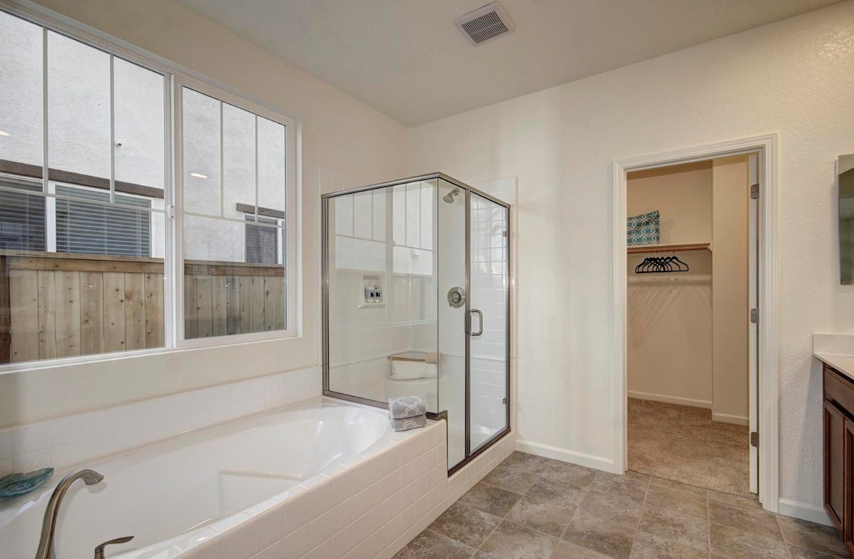 Natomas Field Residence 3 Rancho Cordova, CA new homes Bungalows master bath