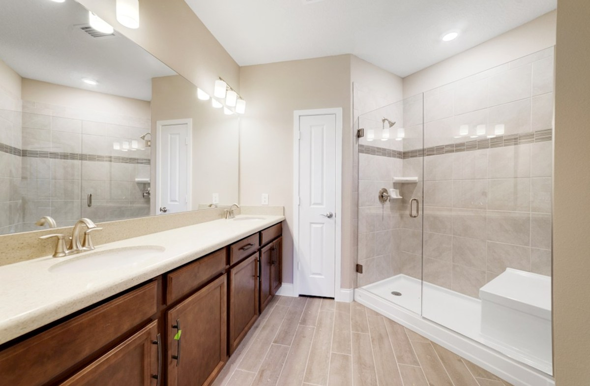Chestnut quick move-in spa-inspired master bath