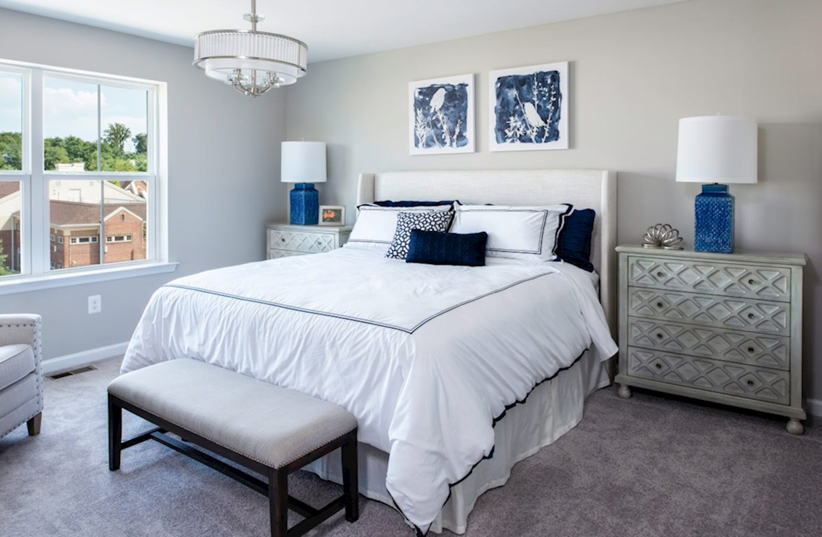 Village Crest at Taylor Village Ellicott Ellicott master suite offers tons of natural light