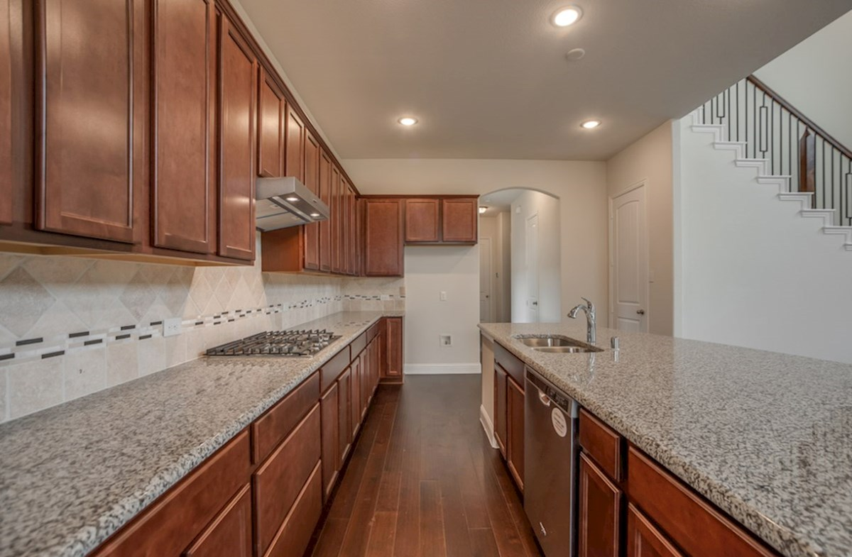 Brazos quick move-in open kitchen with large island