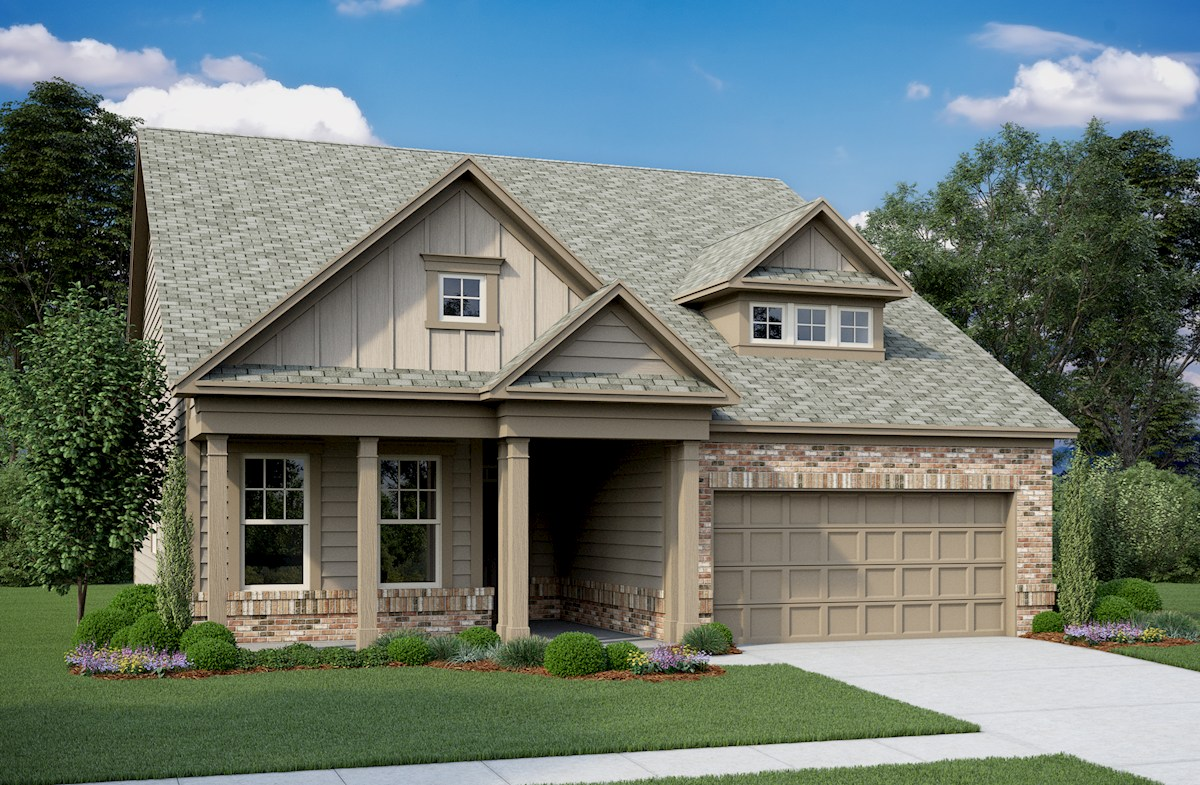 Ranch style home elevation
