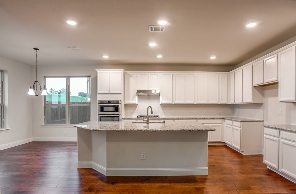 Trinity quick move-in white cabinets in open kitchen