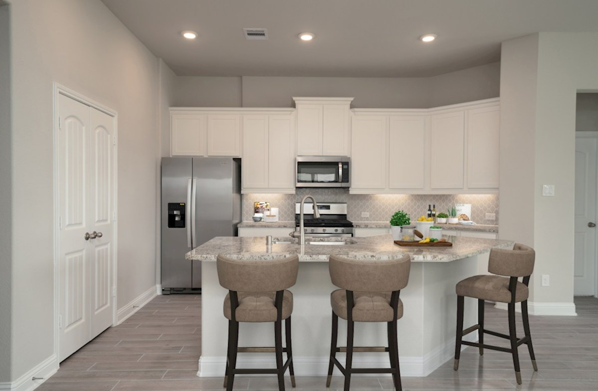 Southwinds Brook kitchen with granite countertops and spacious cabinets